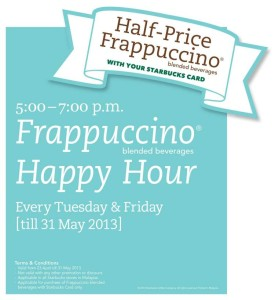 Starbucks-Happy-Hour-Half-Price-Frappuccino_23april-31may-2013_promotion