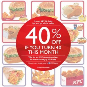 kfc-40percent-discount-july-2013