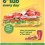 Subway-Free-6-inch-Sub